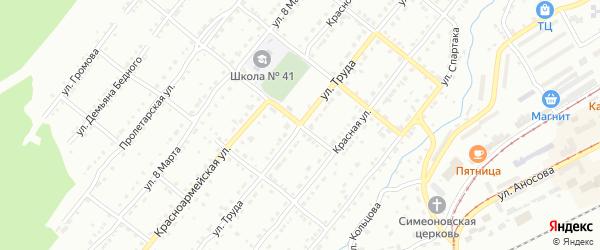 Улица Труда на карте Златоуста с номерами домов