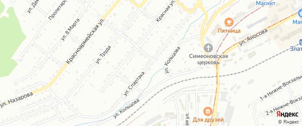 Улица им Спартака на карте Златоуста с номерами домов