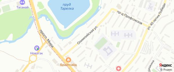 Олимпийская улица на карте Златоуста с номерами домов