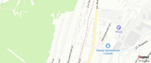 Тесьминская 3-я улица на карте Златоуста с номерами домов