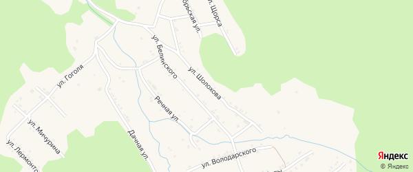 Улица Шолохова на карте поселка Магнитки с номерами домов