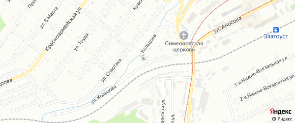 Улица им М.Е.Кольцова на карте Златоуста с номерами домов