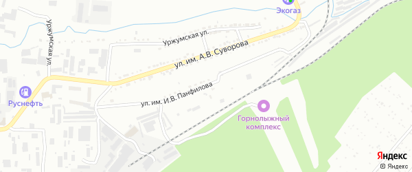 Улица им И.В.Панфилова на карте Златоуста с номерами домов