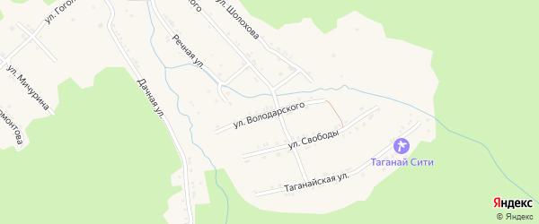 Улица Володарского на карте поселка Магнитки с номерами домов