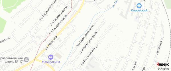 Лесопильная 3-я улица на карте Златоуста с номерами домов