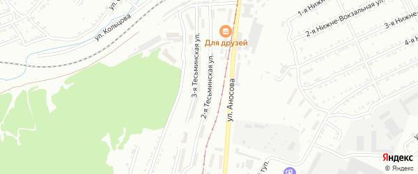 Береговая Тесьминская улица на карте Златоуста с номерами домов