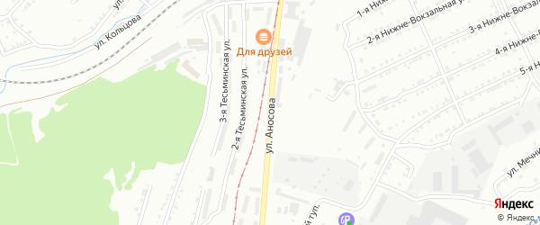 Территория ГК Заря на Аносова на карте Златоуста с номерами домов