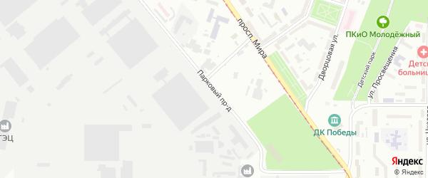 Парковый проезд на карте Златоуста с номерами домов