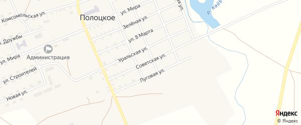 Советская улица на карте Полоцкого села с номерами домов