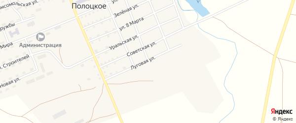 Луговая улица на карте Полоцкого села с номерами домов