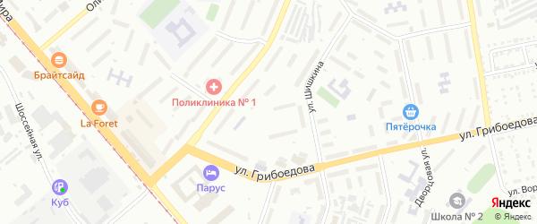 Строение Кирпичный з-д на карте Златоуста с номерами домов