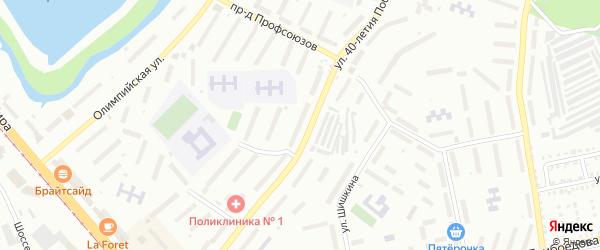 СНТ 40-летия Победы-11 на карте Златоуста с номерами домов