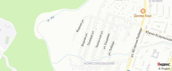 Водная улица на карте Златоуста с номерами домов