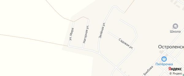 Нагорная улица на карте Остроленского поселка с номерами домов
