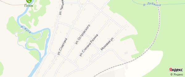 Улица Степана Разина на карте поселка Магнитки с номерами домов