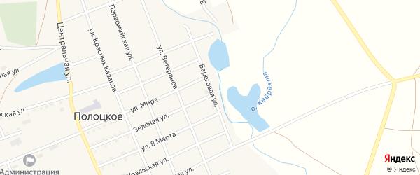 Береговая улица на карте Полоцкого села с номерами домов