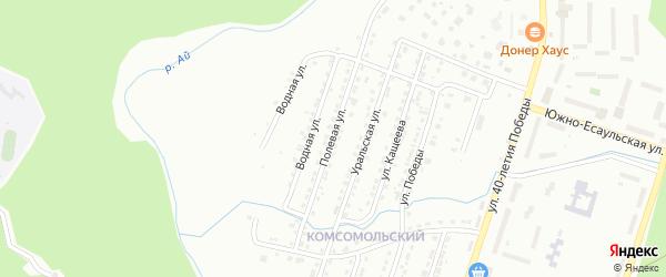 Полевая улица на карте Златоуста с номерами домов