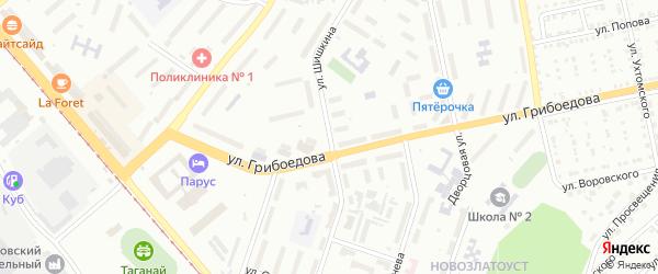 Улица им И.И.Шишкина на карте Златоуста с номерами домов