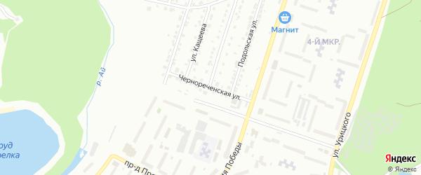 Чернореченская улица на карте Златоуста с номерами домов
