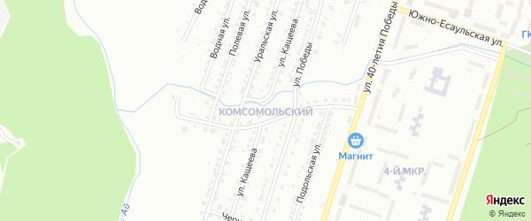 Территория ГК Комсомольский на карте Златоуста с номерами домов