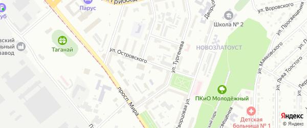 Улица им А.Н.Островского на карте Златоуста с номерами домов