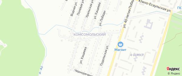 Есаульская улица на карте Златоуста с номерами домов