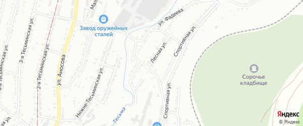 Лесная улица на карте села Куваши с номерами домов