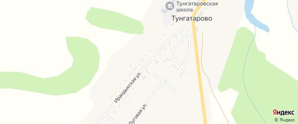 Ирандыкская улица на карте деревни Тунгатарово с номерами домов