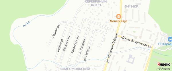 Улица им В.С.Кащеева на карте Златоуста с номерами домов