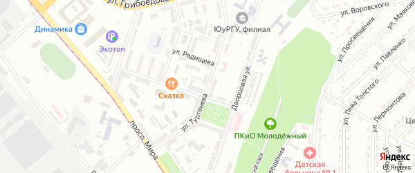 Улица им И.С.Тургенева на карте Златоуста с номерами домов