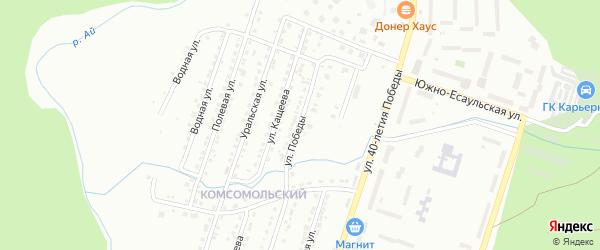 Улица Победы на карте Златоуста с номерами домов