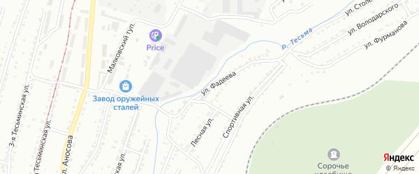 Улица им А.А.Фадеева на карте Златоуста с номерами домов