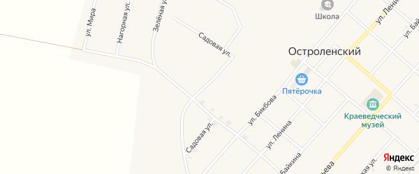 Садовая улица на карте Остроленского поселка с номерами домов