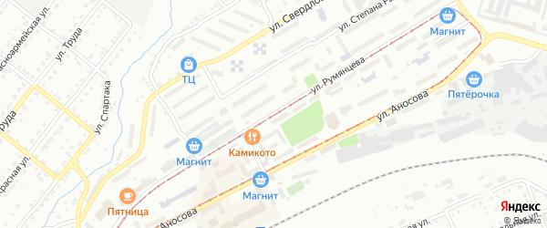 Улица им П.А.Румянцева на карте Златоуста с номерами домов
