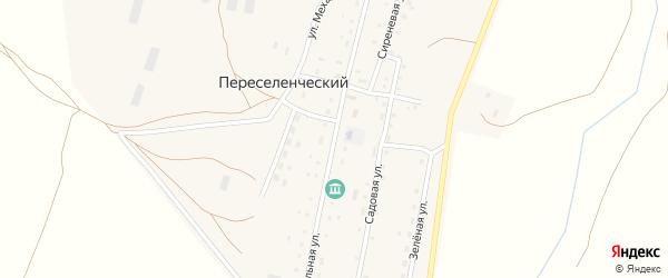 Центральная улица на карте Южного поселка с номерами домов