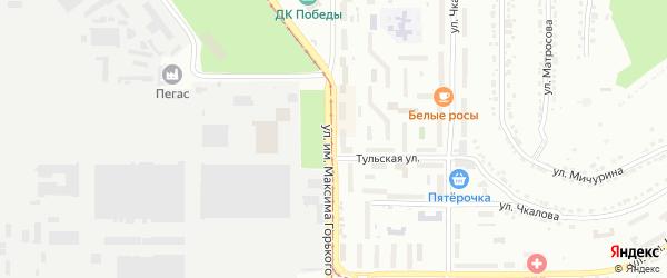 Улица им Максима Горького на карте Златоуста с номерами домов