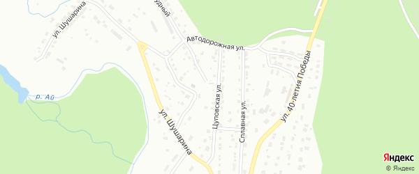 Цуповская улица на карте Златоуста с номерами домов