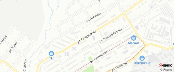 Улица им Я.М.Свердлова на карте Златоуста с номерами домов