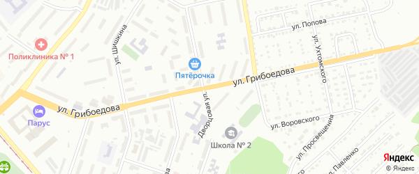 Улица им А.С.Грибоедова на карте Златоуста с номерами домов