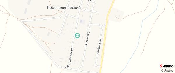 Садовая улица на карте Южного поселка с номерами домов