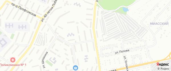 Территория ГК Дружба 1А на карте Златоуста с номерами домов