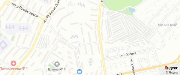 СНТ Номер1 на карте Златоуста с номерами домов