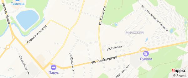 СТ Булат N6 на карте Златоуста с номерами домов