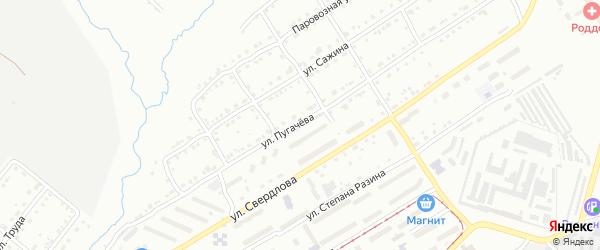 Улица Пугачева на карте села Веселовки с номерами домов