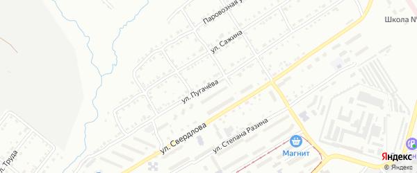 Улица им Е.И.Пугачева на карте Златоуста с номерами домов