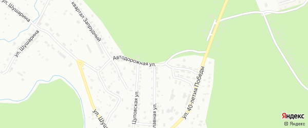 Автодорожная улица на карте Златоуста с номерами домов