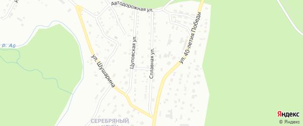 Сплавная улица на карте Златоуста с номерами домов
