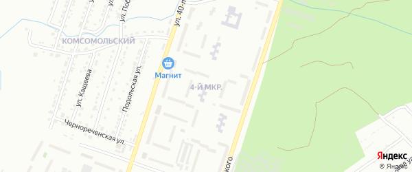 4-й микрорайон на карте Златоуста с номерами домов
