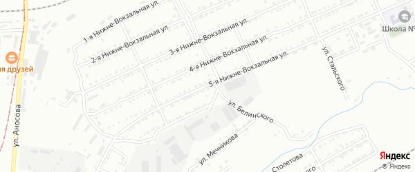 Нижне-Вокзальная 5-я улица на карте Златоуста с номерами домов