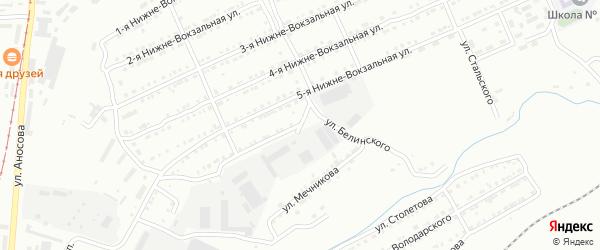 Нижне-Вокзальная 6-я улица на карте Златоуста с номерами домов
